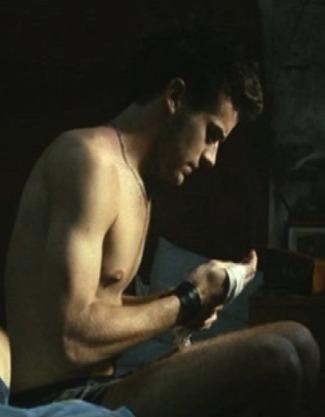 armie hammer underwear - sitting in bed