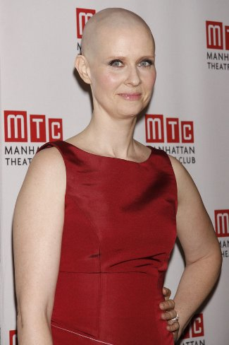 bald actress - cynthia nixon for wit play - pic from wit afterparty