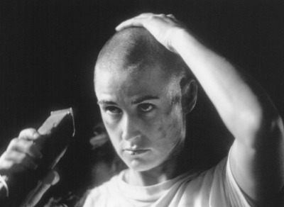 bald girls list - demi moore as jordan o neill in gi jane