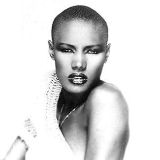 famous bald female celebrities - grace jones - singer actress too