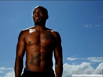 bald olympians - Churandy Martina of curacao now representing the netherlands