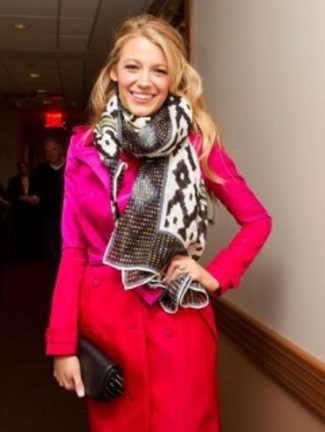 blake lively fashion - trench coat by burberry