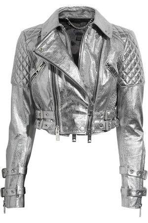burberry prorsum biker leather jacket on zoe saldana