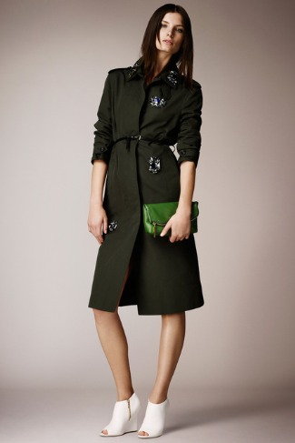 burberry prorsum coat 2014- resort collection for girls