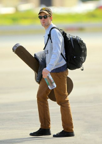 celebrity northface backpacks - robert pattinson