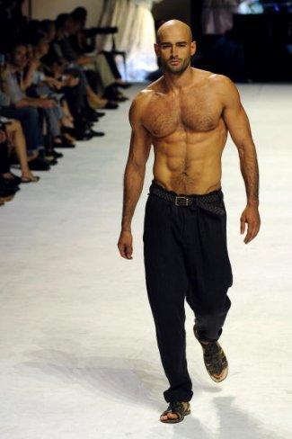 christian monzon bald runway model