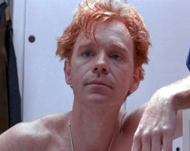david caruso shirtless redhead