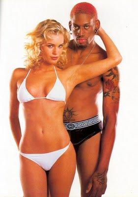 NBA Basketball Players in Underwear dennis rodman underwear model
