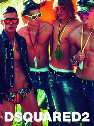 dsquared ss12 ad campaign - DmitriyTanner MattWoodhouse PaoloAnchisi TonHeukels