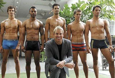 former cricket star shane warne - spinners underwear line
