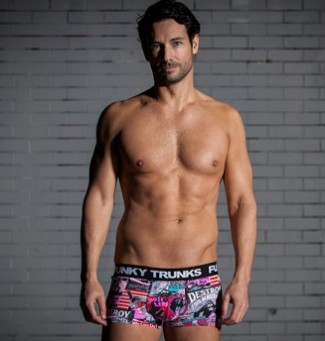 hot mens underwear squarecut funky trunks