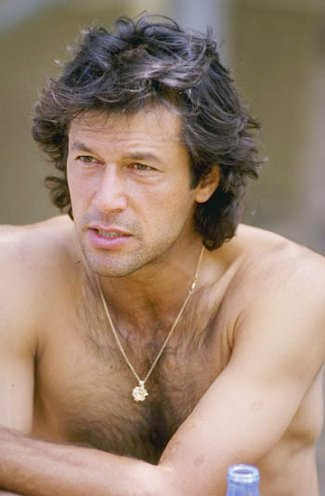 imran khan - shirtless pakistani cricket hunk