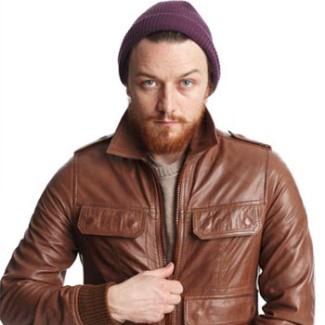 james mcavoy leather jacket for nylon magazine