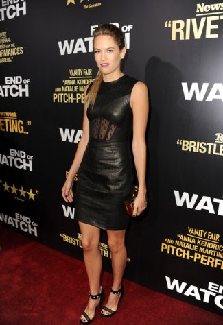 jason wu leather dress 2013 - RTW on actress cody horn