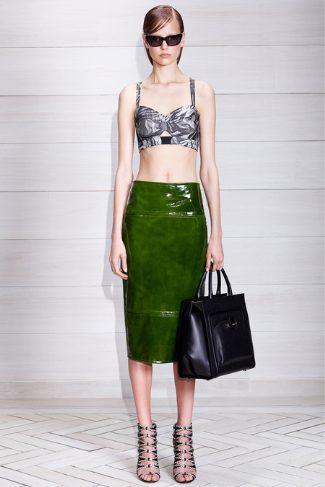 jason wu leather skirt - 2014 resort collection