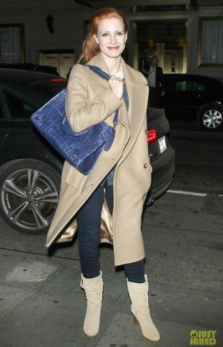 jessica chastain balenciaga city bag