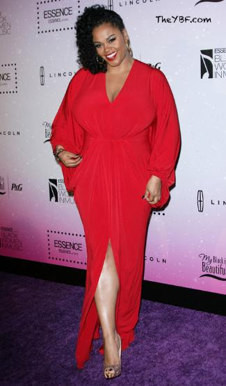 jill scott - red carpet dress 2013 - plus size fashion