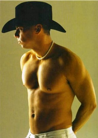 kenny chesney shirtless - sexy upper body