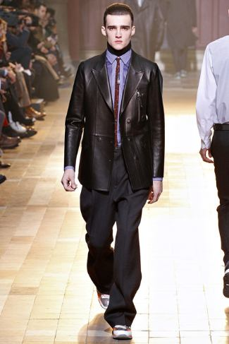 lanvin leather jackets for men fall winter 2013-2014