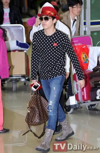 lee hong ki lv bag - Louis Vuitton Keepall 45 Luggage Bag