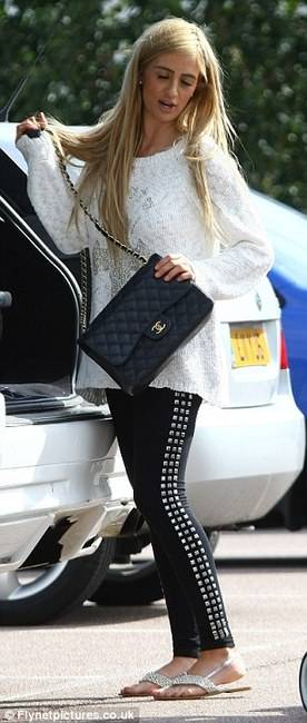 leggings 2013 - Chantelle Houghton and Topshop Triple Stud Leggings