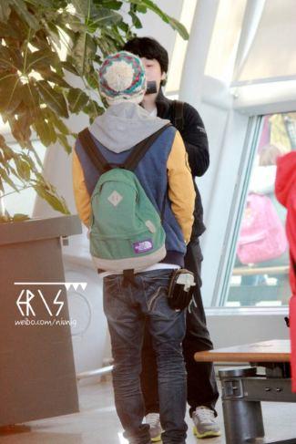 lu han backpack by northface