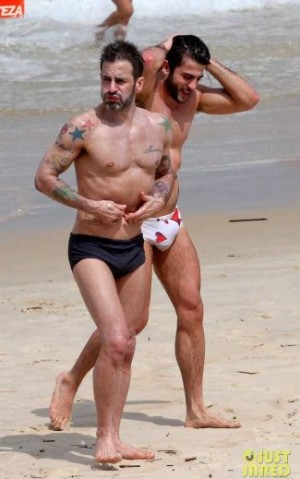 celebrities wearing swim briefs - marc jacobs