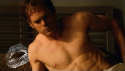 michael c hall shirtless redhead actor - dexter episode