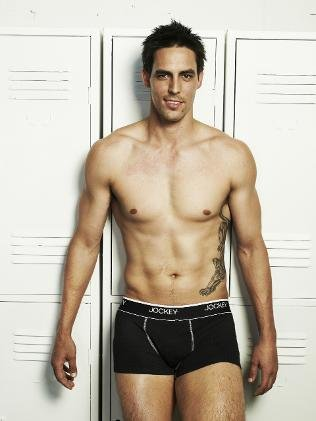 shirtless cricket players  mitchell johnson jockey underwear