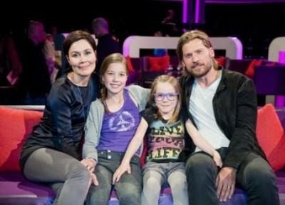 nikolaj coster-waldau family - wife and daughters
