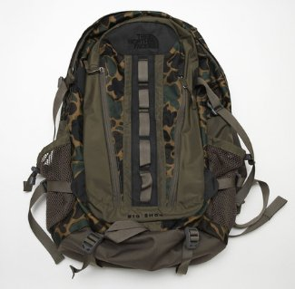 north face camouflage backpack