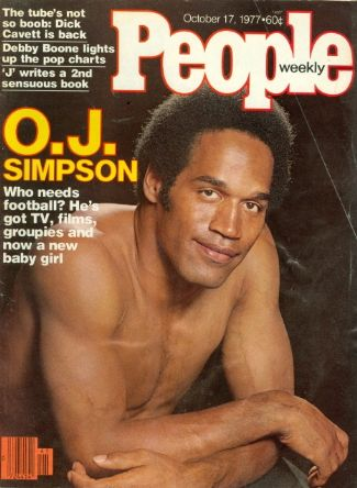oj simpson shirtless - people cover - running back for buffalo bills and sf 49ers