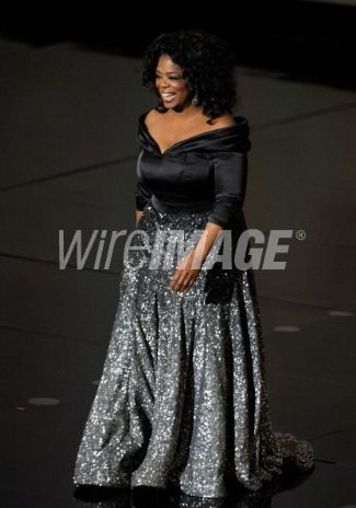oprah plus size red carpet gown - Zac Posen