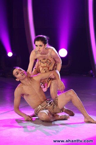 paul karmiryan shirtless - armenian tv with partner mari