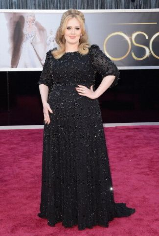 plus size dress 2013 - adele in jenny packham