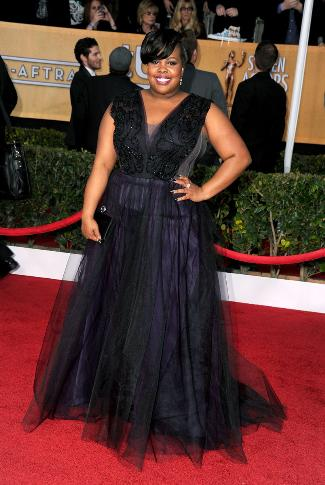 plus size gowns 2013 - amber riley in christiano siriano - sag awards