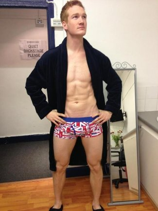 famous ginger men shirtless greg rutherford