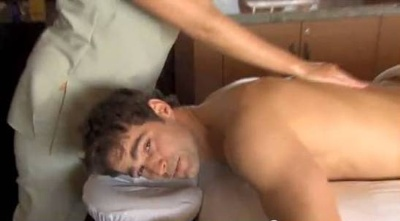 rob marciano shirtless - massage