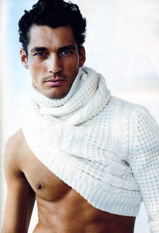 best scottish male models - david gandy - scottish descent mothers side