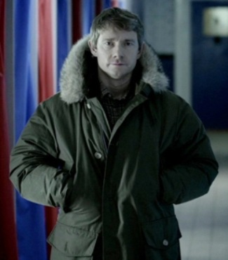 sherlock coats - woolrich parka on john watson - martin freeman