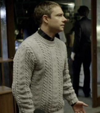 sherlock sweater - albam knit jumper on john watson