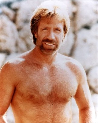 shirtless red hair actor - chuck norris