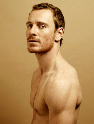 famous ginger men shirtless - michael fassbender