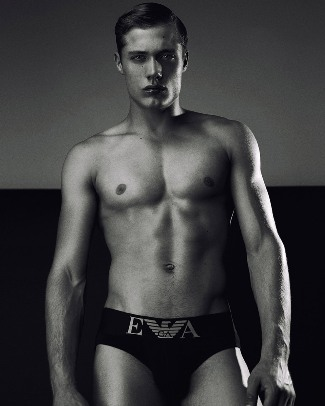 steven chevrin in emporio armani underwear - pic by Daniel Jaems
