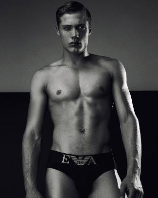 steven chevrin in emporio armani underwear - pic by Daniel Jaems