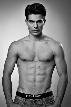 swiss male models underwear - dominique capraro in paul kehl