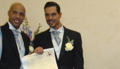 tristan temple and petar perovic of serbia big brother - gay wedding