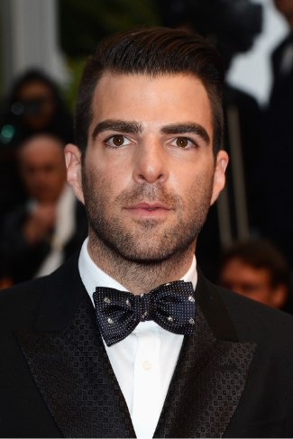 zachary quinto - Alexander McQueen Skull-patterned Woven-Silk Bow Tie