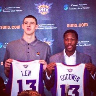 alex len phoenix suns basketball shirt