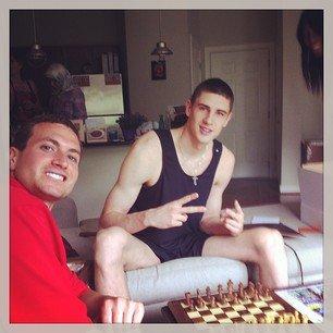 alex len tank top shirt playing chess
